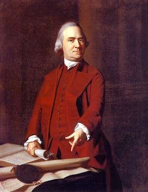 Samuel Adams by John Singleton Copley.