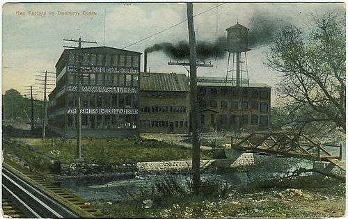 View of a Danbury hat factory, 1911