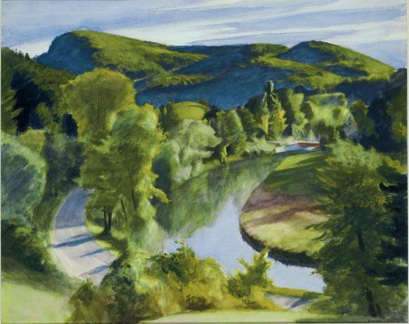 First Branch of the White River, Vermont, 1938, Boston Museum of Fine Arts