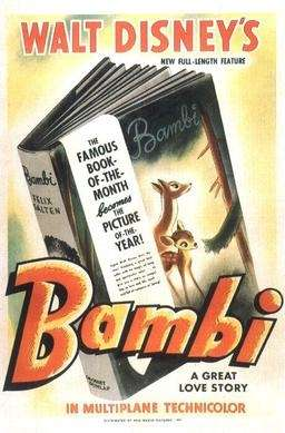 Original movie poster for Bambi