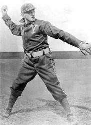 Jack Chesbro pitching for the Highlanders.