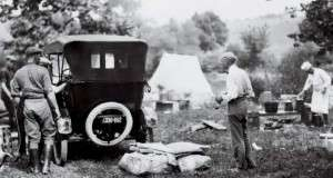 Flashback Photo: Thomas Edison Tries To Go Camping in New Hampshire