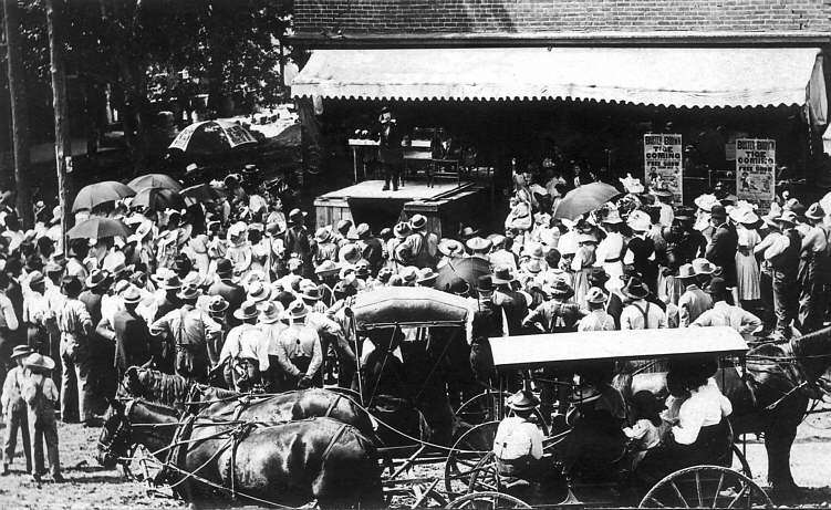 Crowds flocked to the medicine shows.