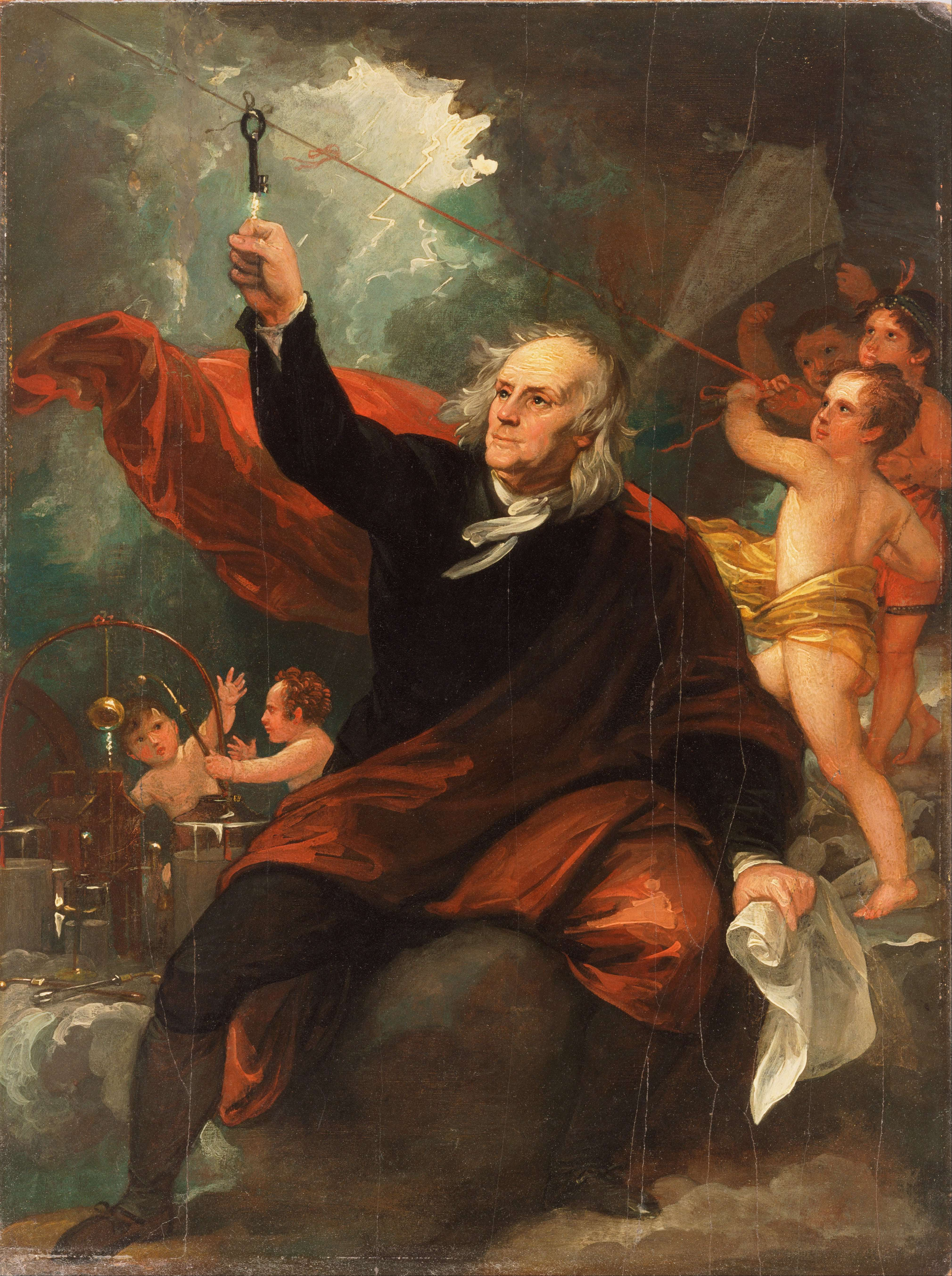 1768 lightning Benjamin_West,_Benjamin_Franklin_Drawing_Electricity_from_the_Sky_-_Google_Art_Project