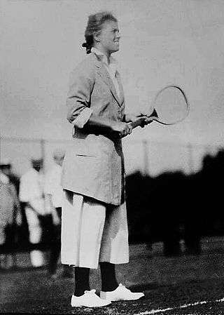 Eleonora Sears on the tennis court.