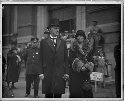 Calvin and Grace Coolidge. Photo courtesy Boston Public Library, Leslie Jones Collection.
