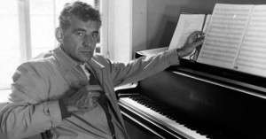 Leonard Bernstein at the MacDowell Colony.