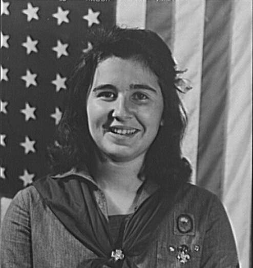 Portuguese-American Girl Scout, New Bedford, 1942. Photo courtesy Library of Congress.