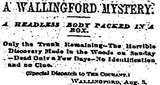 wallingford shoe box murder courant