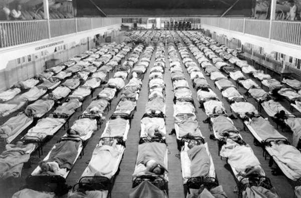 Victims of the 1918 flu epidemic