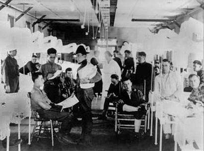 Doctors and nurses at Fort Devens.