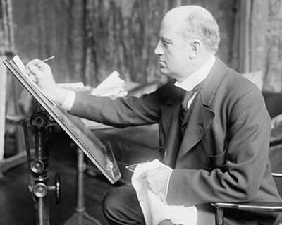 Charles Dana Gibson at work.