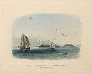 Boston Light by Karl Bodmer, 1839