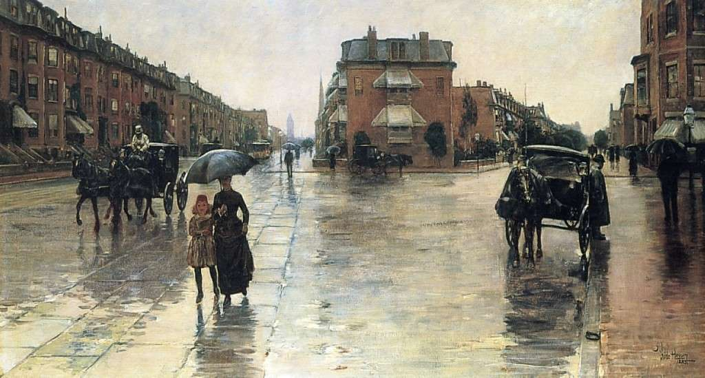 A Rainy Day in Boston, by Childe Hassam.
