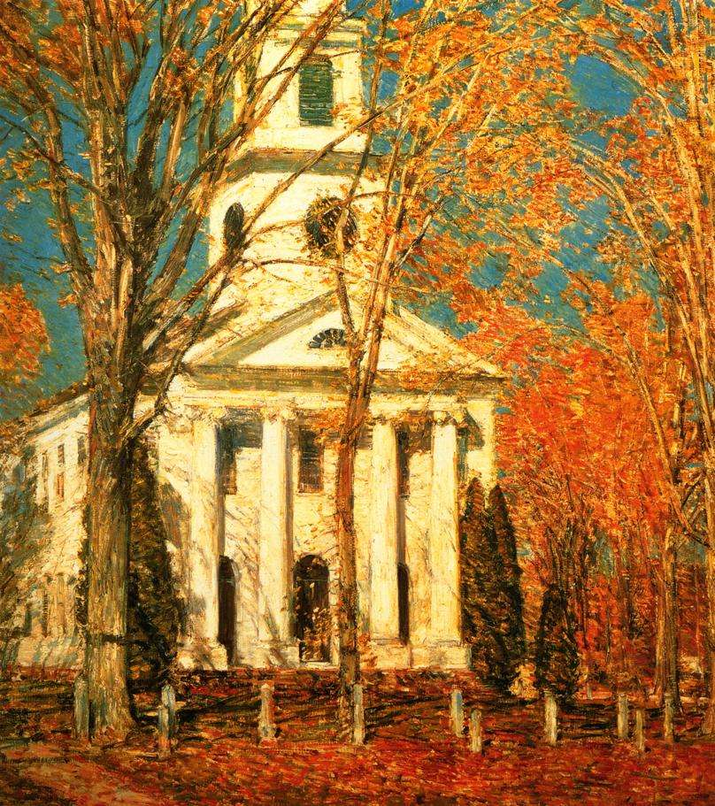 Church at Old Lyme by Childe Hassam. Albright-Knox Art Gallery, Buffalo, N.Y.