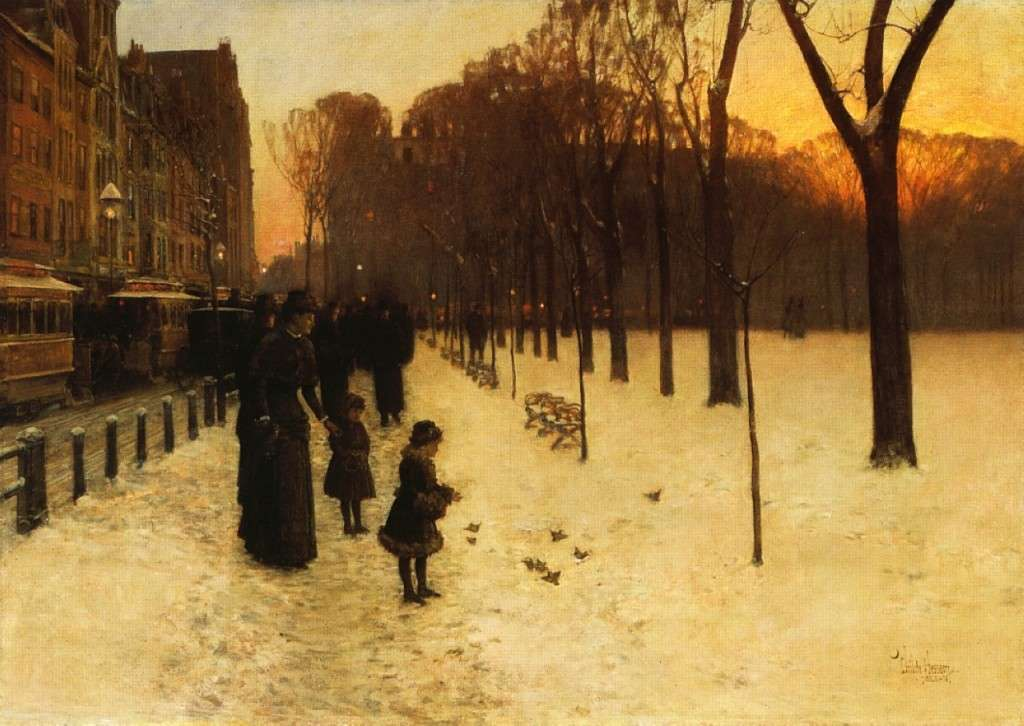 Boston Common at Twilight by Childe Hassam, Museum of Fine Arts, Boston