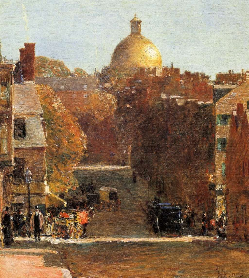 Childe hassam paints what he sees and oh what he saw for Wine and paint boston