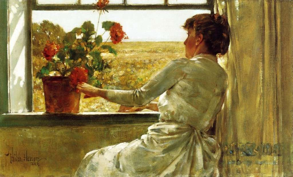 Summer Evening by Childe Hassam. Florence Griswold Museum.