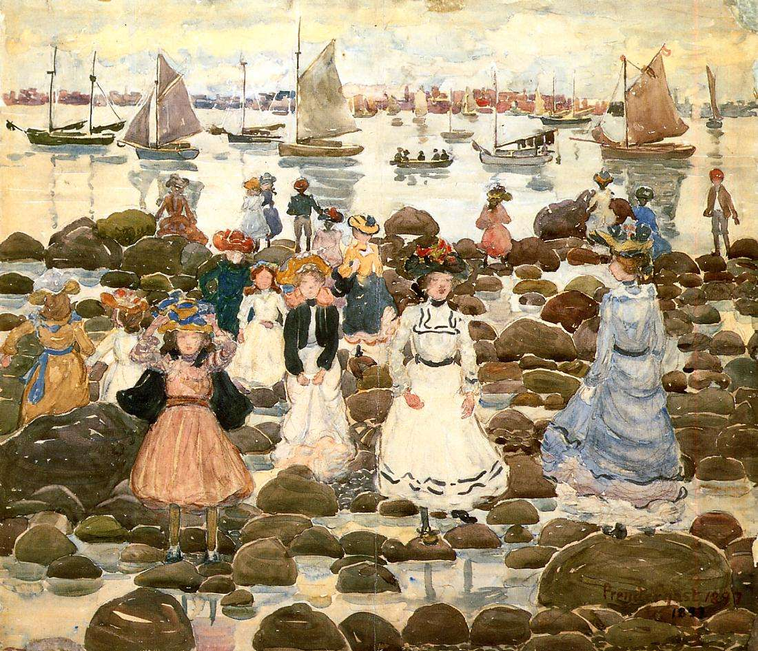 Low Tide at Beachmont, ca. 1905, Worcester Art Museum.
