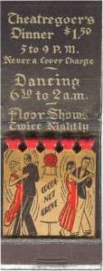 Matchbook from the Cocoanut Grove. Courtesy Boston Public Library.