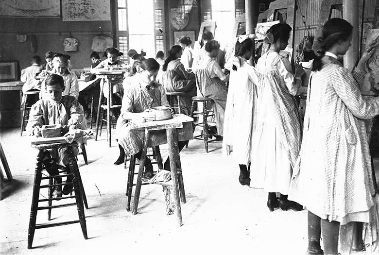 An early classroom at RISD