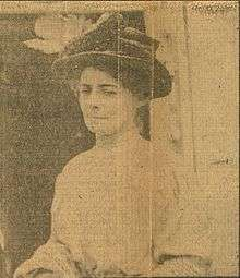 1909 newspaper photo of Isabel Lyon