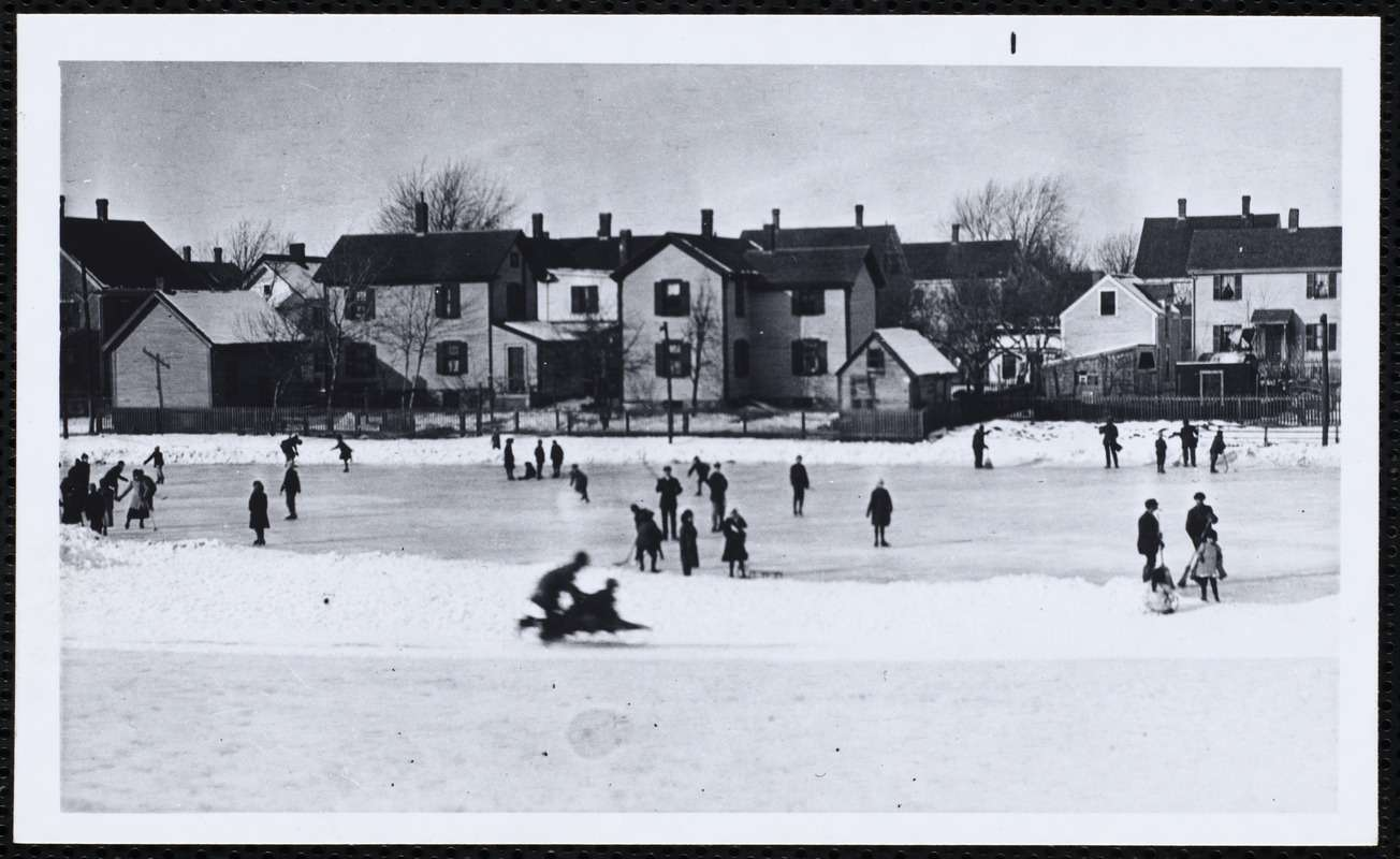 Skating on Silver Lake around 1900.