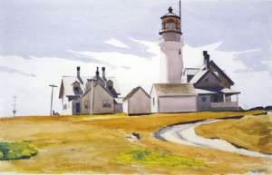 Highland Light, near the site of the Somerset wreck. By Edward Hopper, courtesy Harvard Art Museums/Fogg Museum, Louise E. Bettens Fund.
