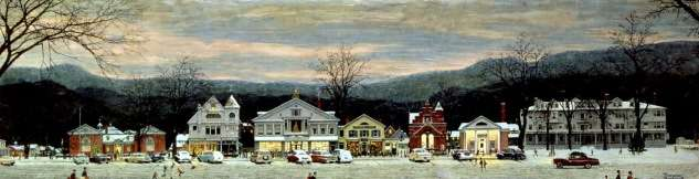 Norman Rockwell Christmas painting full