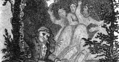 Illustration from the 1825 edition of Female Quixoticism by Tabitha Tenney