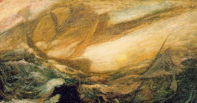 Detail from The Flying Dutchman by Albert Pinkham Ryder. Courtesy Smithsonian American Art Museum.