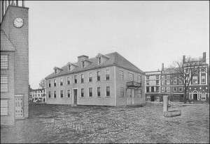 Artists' conception of the first New Hampshire Statehouse