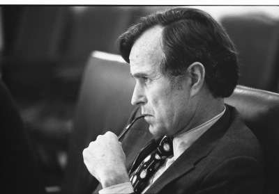 George H.W. Bush in his broccoli-eating days.