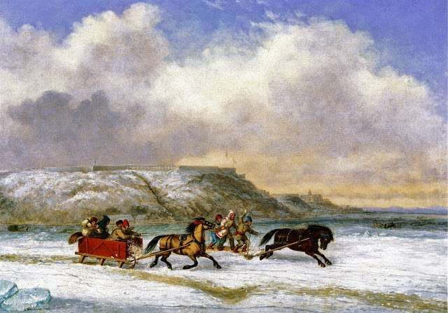 Sleigh Race on the St. Lawrence at Quebec, by Cornelius Krieghoff