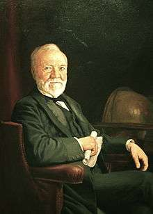 Andrew Carnegie, National Portrait Gallery painting