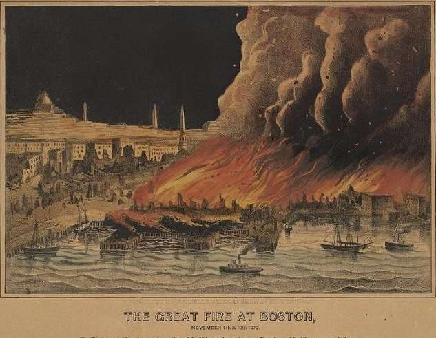 great boston fire print