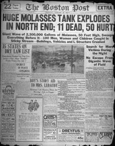 Boston Post front page, Jan. 16, 1919
