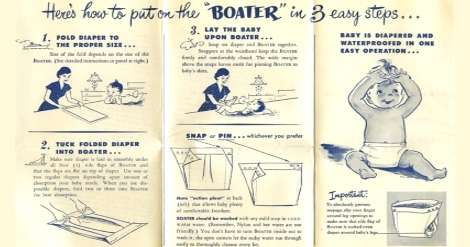 Brochure for Baby Boaters invented by Marion Donovan