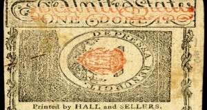 A 1780 $1 note from New Hampshire