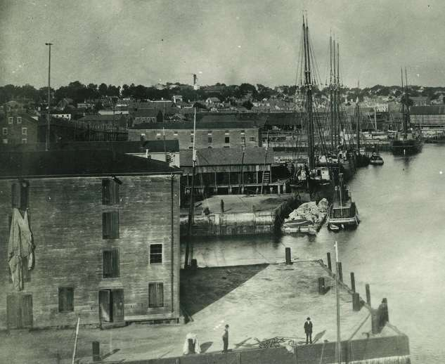 The Newburyport waterfront in the 19th century