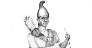 Illustration of Passaconaway from Potter's History of Manchester
