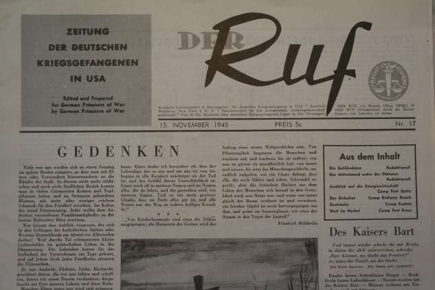 A November 1945 edition of Der Ruf