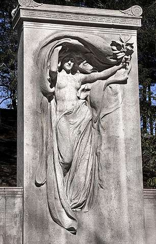 Audrey Munson as Mourning Victory, considered Daniel Chester French's masterpiece