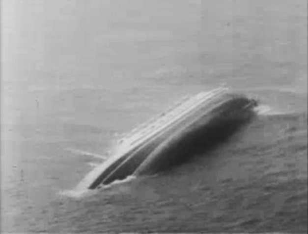 Andrea Doria just before sinking