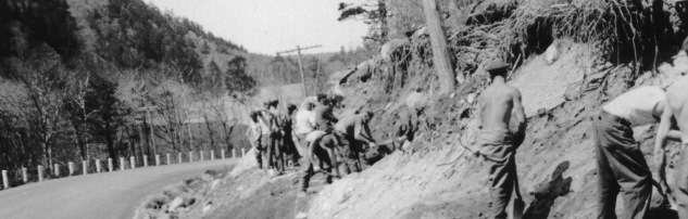 CCC boys building Otter Creek Road in Acadia. Photo courtesy National Park Service.