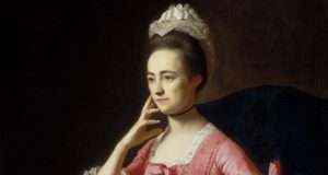 Dorothy Quincy portrait by John Singleton Copley. On display at the Museum of Fine Arts in Boston.