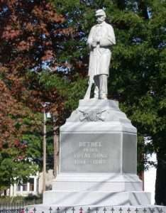Civil War Veterans Monument in Bethel, Maine