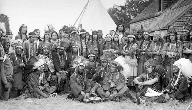 The Mashpee Indians on Thanksgiving, 1929. Photo courtesy Boston Public Library, Leslie Jones Collection.