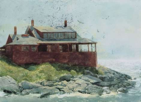 The Red House, watercolor by Jamie Wyeth