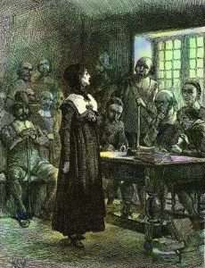 Anne Hutchinson stands trial